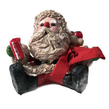Vintage Paper Mache Santa Clause Christmas Figure Holiday Decoration 5.75x5.75