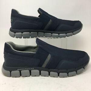 Skechers Skech-Flex 2.0 Wentland Slip On Sneakers Mens 13 Blue Memory Foam 52621