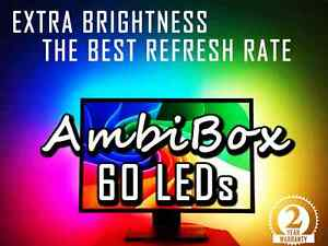 60 LED strip AmbiBox Lightpack Boblight backlights ambient light for screen PC