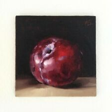 More details for plum original still life oil painting amanda selway contemporary realism
