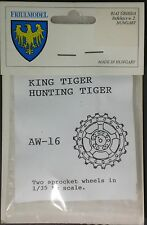 FriulModel 1/35th Scale 2 Metal Sprocket Wheels for King Tiger Set No. AW-16