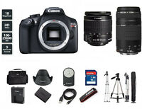 NEW Canon EOS Rebel T6 DSLR Camera with 18-55mm and 75-300mm BUNDLE KIT