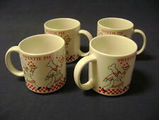 Nicky Kohler Papel Japan 4 Vintage SWEETIE PIE CHEF, Coffee Tea Mugs Cups, 60's