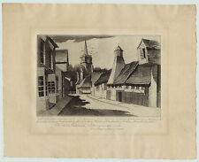 RARE John Taylor Arms Demonstration Etching Annot & Signed - Sawbridgeworth 1941