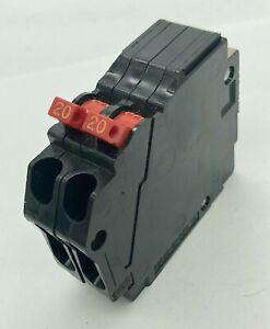 Murray MM2020 Twin 20 Amp 1 Pole 120VAC Plug In Tandem Closed Clip Breaker  FLAW