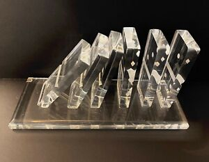 BEST MID CENTURY OP ART LUCITE SCULPTURE FALLING DOMINOS 1960s 1970s POP ART