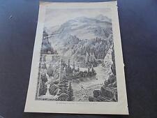 1889 Zeitungsdruck 504 / Schweiz Lukmanierpass Medel Tessin