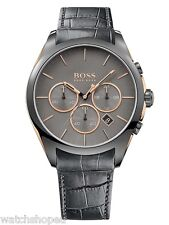 NEW HUGO BOSS 1513366 MENS ONYX CHRONOGRAPH WATCH - 2 YEAR WARRANTY
