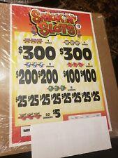 Smokin' Slots ! Pull Tab Tickets Casino Profit $590.00