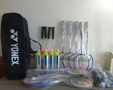 Set completo Yonex per badminton con racchette, volani, borsone e reti **NUOVO**