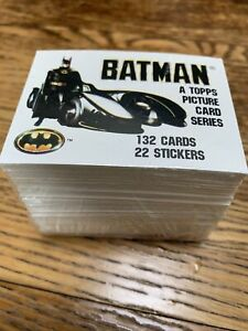 BATMAN - TOPPS 1989 - COMPLETE FULL SET 132  CARDS & 22 STICKERS. Excellent