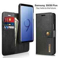 For Samsung Galaxy S9/ S9 Plus Flip Leather Wallet Case w/ Card Slot Stand Cover