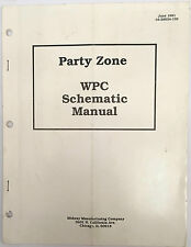 PINBALL MACHINE MANUAL MIDWAY WPC SCHEMATIC MANUAL PARTY ZONE