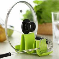 Pot Pan Lid Stand Spoon Rest Holder Cooking Utensil Tool Shelf Kitchen Storage
