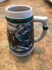 Budweiser 1993 Christmas Special Delivery Nora Koerber Holiday Beer Stein Mug