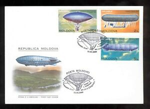Moldova 2003 Airships Dirigibles FDC
