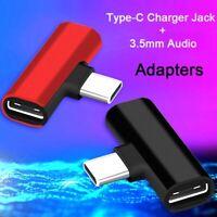 2 In 1 Typ C auf 3,5 mm Klinke Kopfhörer Ladekonverter USB Typ-C Audio Adapter