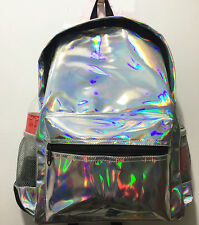 Fashion Girls Hologram Holographic School Backpack Tote Travel Bag Purse