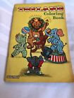 Vintage Saalfield Coloring Book Circus Unused .05c