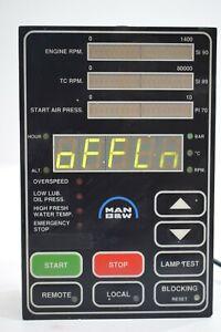 MAN B&W Marine Engine RPM TC RPM Air Pressure HMI Panel Module Indicator Display