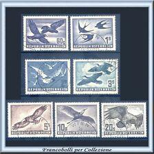 1950-53 Austria Correo Aéreo Aves N.en 54/60 Usados