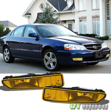 2002-2003 Acura TL Bumper Driving Yellow Fog Lights Lamps+Bulbs Left+Right Pair