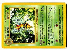 POKEMON BASE English SHADOWLESS CARD (Used) RARE N°  17/102 BEEDRILL