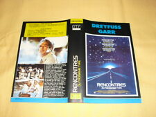 JAQUETTE VHS Rencontres du troisième type Steven Spielberg Richard Dreyfuss