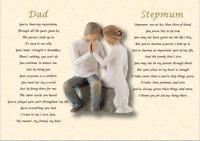 DAD & STEPMUM  GIFT- personalised (Laminated poem)