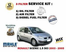 Para Renault Scenic 1.5 dCi 10/2003-3/2005 Aceite Aire Combustible Kit De Servicio De Filtro De 3