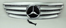 Mercedes C Class W203 4Dr 01-07 4 Fence Front Hood Sport Silver Grill Grille