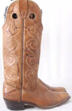 "Wrangler 4485 Vtg Buckaroo Pointed 14"" Swirl Cowboy Western Boots Women' US 6M"