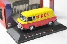1:43 IST Models Barkas B1000 Kastenwagen MINOL 1960 red/ yellow