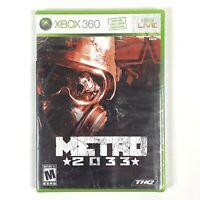 Metro 2033 (Microsoft Xbox 360, 2010) Brand New/Factory Sealed