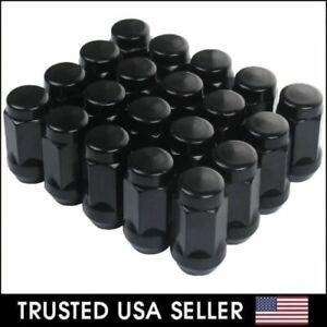 "20 BLACK TRUCK LUG NUTS 9/16 FOR DODGE DURANGO DAKOTA RAM 1500 RAIDER   1.38"""