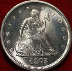 Uncirculated 1875-S San Francisco Mint Twenty Cent Silver Coin