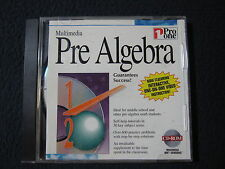 Multimedia Pre Algebra Middle School Math Cd-Rom by Pro One - Incl. Shipping!
