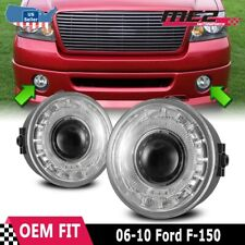 For Ford F-150 06-10 Factory Replacement Halo Projector Fog Lights Clear Lens