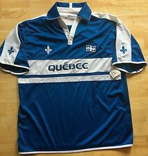 Quebec Soccer Jersey Polo Shirt TeePee Sports Blue XL/TG Collectible NWT