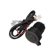 12V/24V Waterproof Power Motorcycle Boat Car Cigarette Lighter Socket Plug Cable