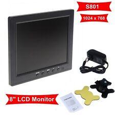 """Portatile 8"""" LCD Colore HD Monitor Schermo VGA BNC Vedio Input per PC TVCC DVD"""