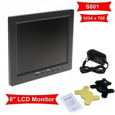"Portable 8"" LCD Color HD Monitor Screen VGA BNC Vedio Input For PC CCTV DVD GU"
