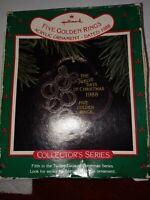 EUC Hallmark 1988 Twelve 12 Days of Christmas 5 Golden Rings Acrylic Ornament
