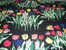 JOSEF FRANK HEAVY LINEN UPHOLSTERY FABRIC TULIPANER RARE IMPORTED FROM STOCKHOLM