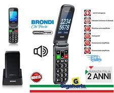 Brondi Amico Flip Plus Nero Cellulare a Conchiglia Tasto SOS e Base Ricarica ITA
