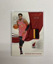 2018 Immaculate Remarkable Memorabilia Red /25 Hassan Whiteside Patch #RM-HWS