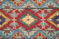 South-west 5x7 Geometric Super Kazak Oriental Area Rug Hand-Knotted Wool Carpet