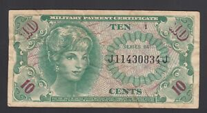 United States of America 10 Cents 1965  F-VF P. M 58  Banknote, Circulated