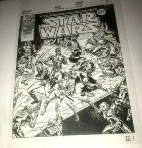 Star Wars Luke Skywalker Darth Vader Foreigner Cover Production Art Acetate Rare