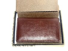 New BOCONI Magnetic RFID Card Case - Whiskey w/ Aspen Leather - Retails For $58!